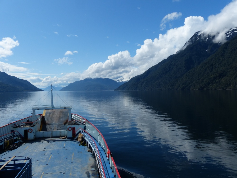 The clouds cleared for our second ferry ride and we enjoyed a beautiful trip up the waterway.