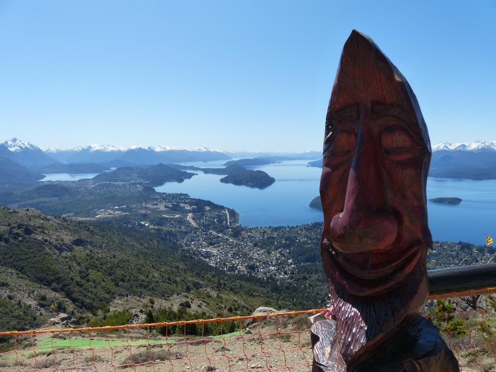The view of Bariloche from the top of a nearby hill.