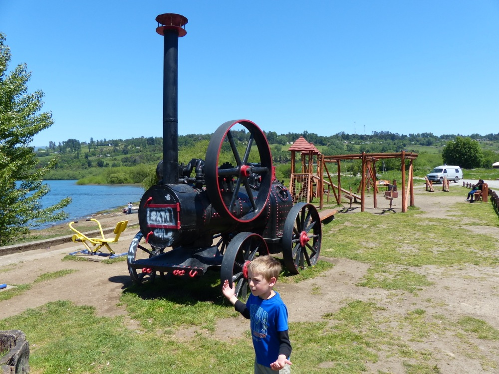 Steam powered contraptions are always a great place to stop for lunch.