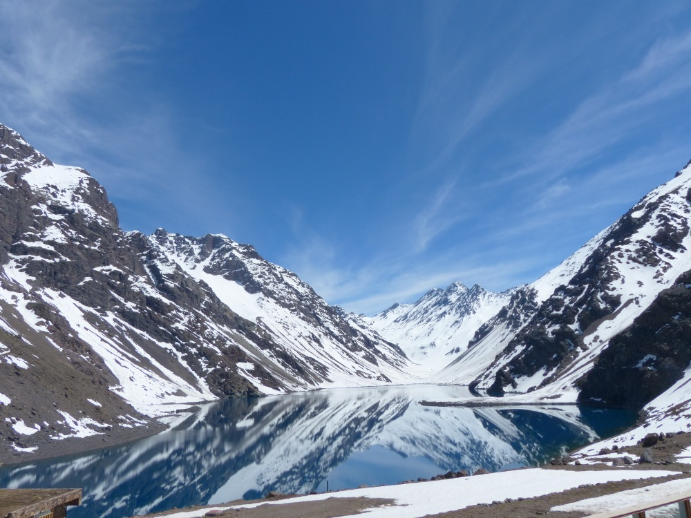 Near the top of the pass is the ski resort of Portillo, popular with ski teams from all over the world as an off-season training ground.