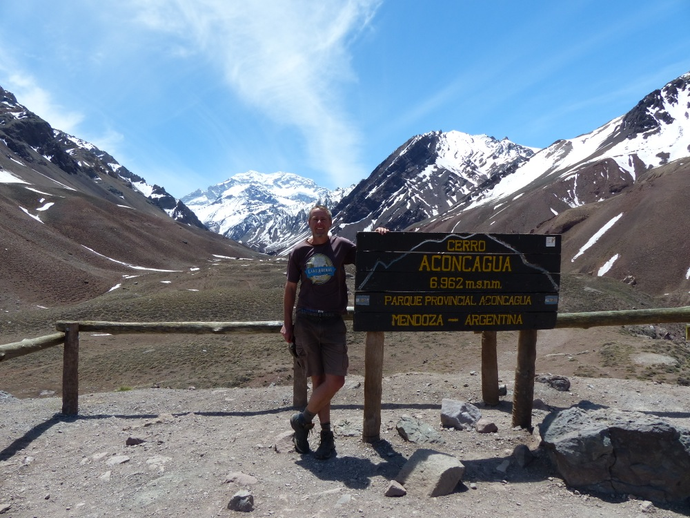 We also got to see the highest mountain in the world outside of Asia - Aconcagua