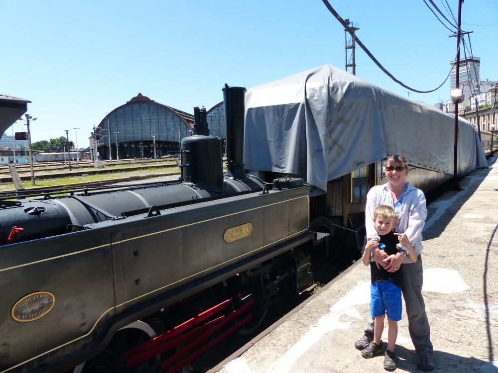 We tried again to visit the BA train museum. It was closed again, this time to repaint the floors. Fortunately there was one engine outside that we could look at.