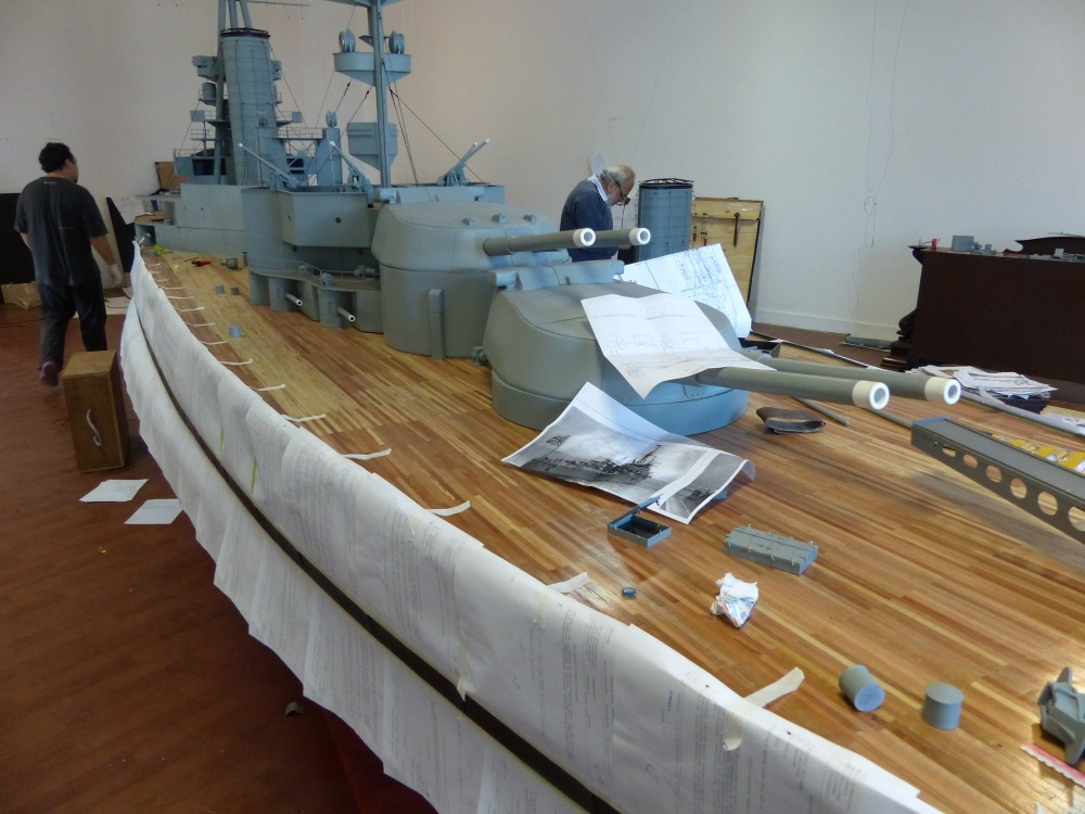 The highlight of our visit to the excellent naval museum was meeting the builders of this model. When they finish their two year labor it will be the largest model ship in South America.