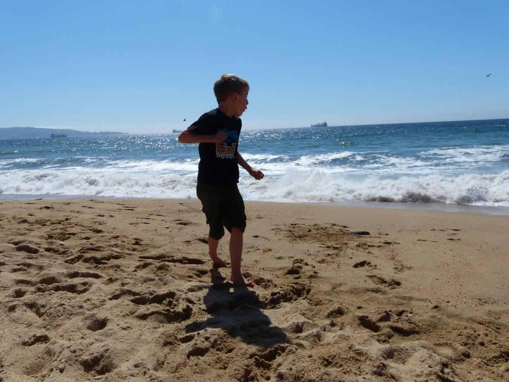 A last day of fun on the beach before we fly to winter.