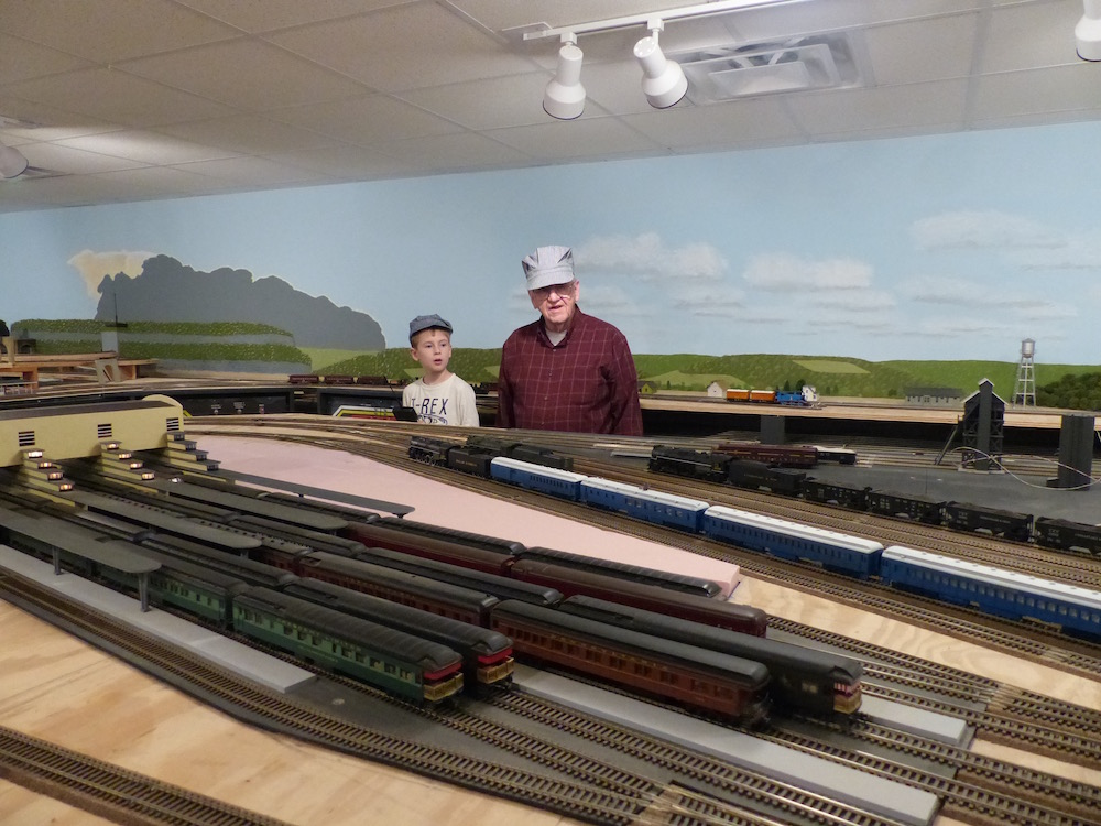 We got to spend a day at Witt's uncle George and aunt Bobby's house where Quinn got to run a really great train layout.