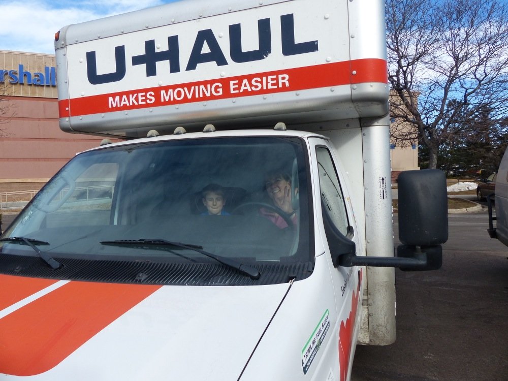 Headed from Denver to Montrose, with our stuff.