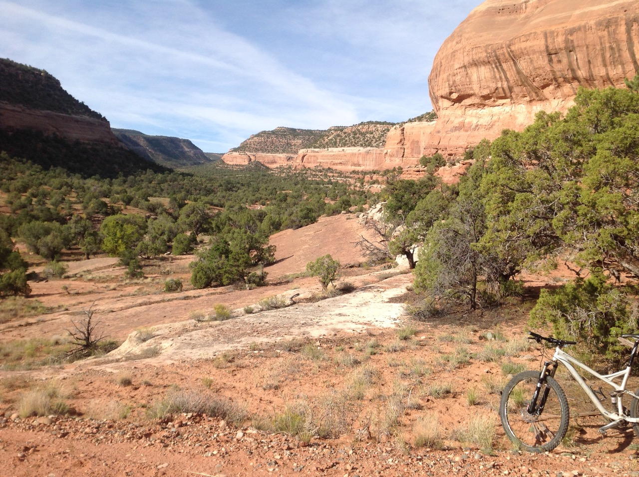 At the entrance to Red Canyon. The trail climbs about 5 miles into the canyon following old two-track.