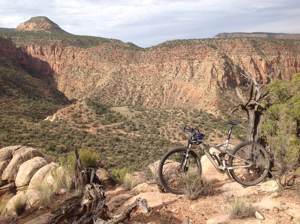 The Y-11 loop features some fun, fast, and technical singletrack. At times the trail clings tenuously to narrow benches high above the canyon floor.